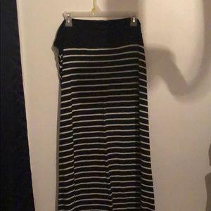 Black & White Stripped Maxi Skirt